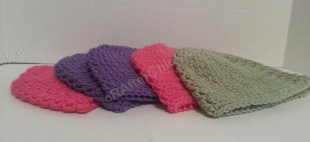 Easy Peasy Youth Sized (Age 3-10 years old) Double Crochet Beanie Pattern