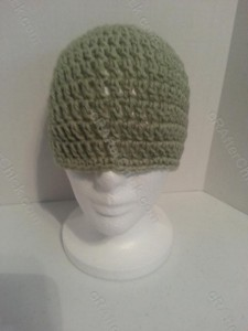 Easy Peasy Teen / Women Free Double Crochet Beanie Pattern - free crochet pattern for hat display