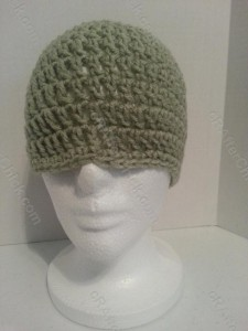 Easy Peasy Teen / Women Free Double Crochet Beanie Pattern - free crochet pattern for hat display 2