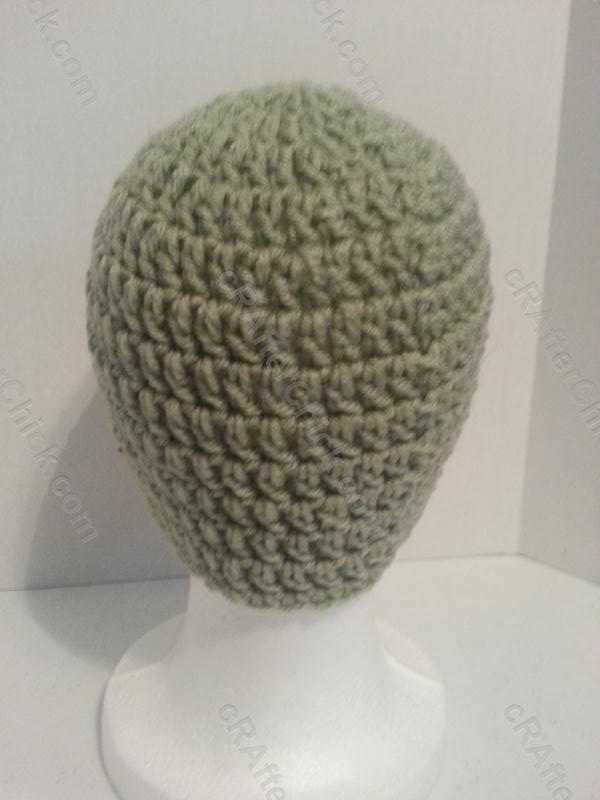 Easy Peasy Large Adult / Men Sized Double Crochet Beanie Pattern ...