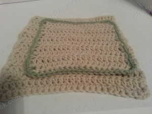 Double Crochet Washcloth Crochet Pattern Front view
