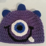 Parker's One Eyed Purple Monster Beanie Hat Crochet Pattern