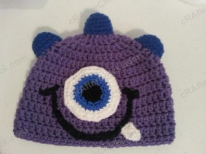 Parkers Purple Monster Beanie Hat Crochet Pattern