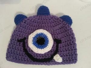Parkers Purple Monster Beanie Hat Crochet Pattern