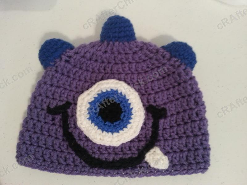 Parkers One Eyed Purple Monster Beanie Hat Crochet Pattern