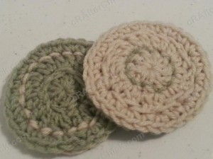 Reversible Coaster Crochet Pattern Down shot