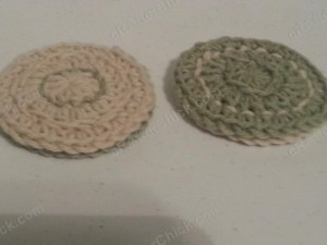 Reversible Coaster Crochet Pattern Side View