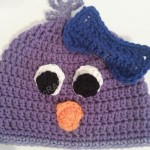 Rochelle's Pretty Purple Chick Beanie Hat Crochet Pattern