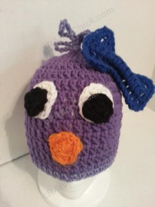 Rochelle's Pretty Purple Chick Beanie Hat Crochet Pattern Profile