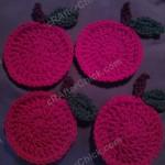 Teacher Apple Coasters Crochet Pattern