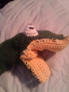 Bath Time Alligator Hand Puppet Washcloth Crochet Project