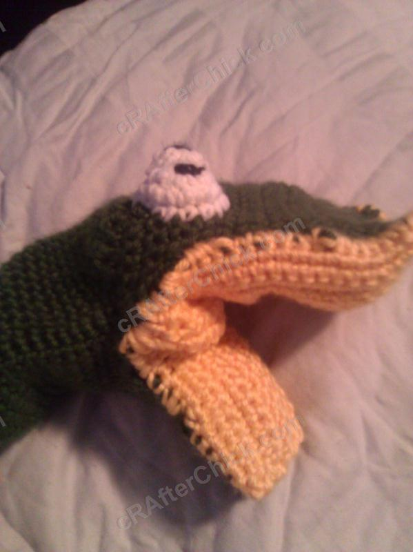 Bath Time Alligator Hand Puppet Washcloth Crochet Project ...