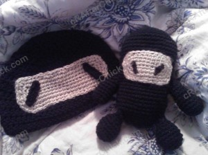 Chibi Ninja Beanie Hat Crochet Pattern