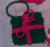 christmas present ornament crochet pattern free