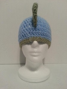 Gavin's DinoRAWR Spiked Beanie Hat Crochet Pattern Front on View