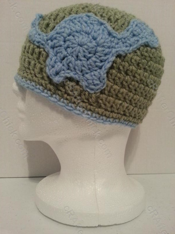 Gavins Dinosaur Friend Beanie Hat Crochet Pattern ...