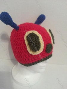 The Very Hungry Caterpillar Beanie Hat Crochet Pattern Front Side View