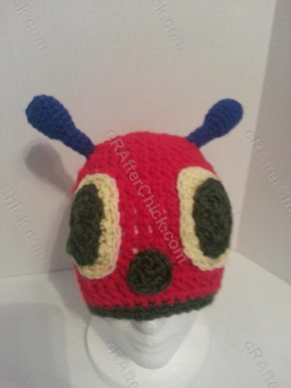 The Very Hungry Caterpillar Beanie Hat Crochet Pattern for ...
