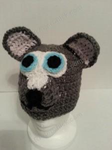 Baby Wolf Crochet Beanie Hat Pattern 1