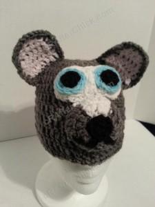 Baby Wolf Crochet Beanie Hat Pattern Front shot