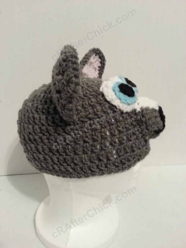 Baby Wolf Cub Beanie Hat Crochet Pattern cRAfterchick ...