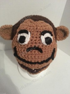 Curious George Book Reading Time Beanie Hat Crochet Pattern