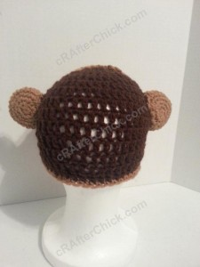 Curious George Book Reading Time Beanie Hat Crochet Pattern View from Behind