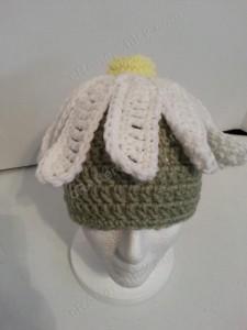 Giant Daisy Beanie Hat Crochet Pattern
