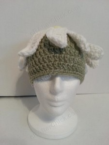 Giant Daisy Beanie Hat Crochet Pattern Front View