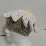 One Giant Daisy Beanie Hat Crochet Pattern