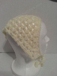 Grandma's Kerchief Crochet Pattern Picture Side View