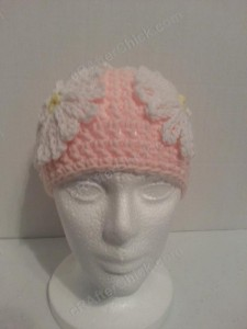 Head Full of Daisies Beanie Hat Crochet Pattern Front View