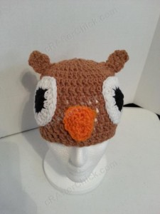 Hootie the Wise Owl Beanie Hat Crochet Pattern 2