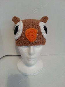Hootie the Wise Owl Beanie Hat Crochet Pattern 3