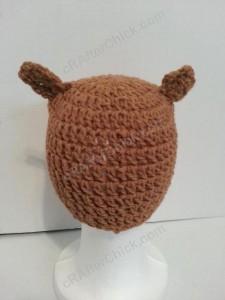 Hootie the Wise Owl Beanie Hat Crochet Pattern Back View