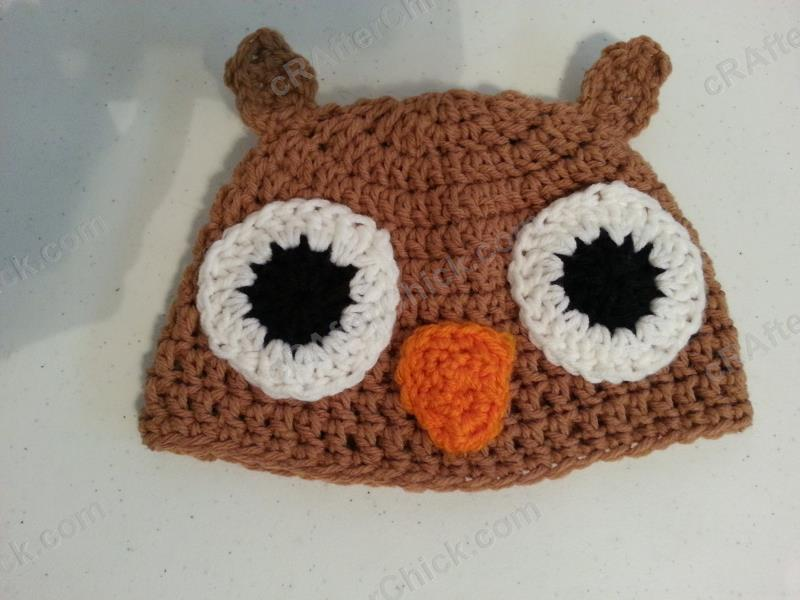 Hootie The Wise Owl Beanie Hat Crochet Pattern Crafterchick Free