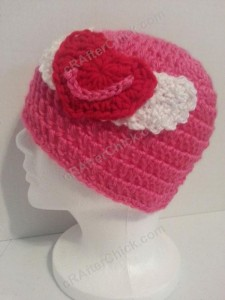 Jordan's Pink Angels Beanie Hat Crochet Pattern 1