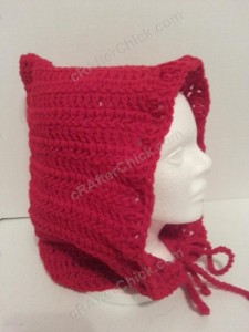 Little Red Riding Hood's Crocheted Hood Crochet Pattern side view
