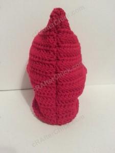 Little Red Riding Hood's Crochet Hood crochet pattern rear view
