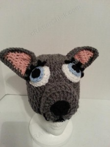 Mother Wolf Crochet Beanie Hat Pattern Picture