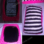 Soft Zebra Striped Stuffed Kindle Fire Holder Crochet Project
