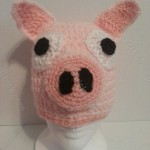 Three Little Pigs Beanie Hat Crochet Pattern for Storytelling