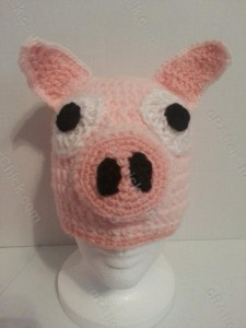 Three Little Pig Storytime Crochet Beanie Pattern