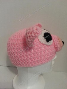 Three Little Pigs Beanie Hat Crochet Pattern Side View