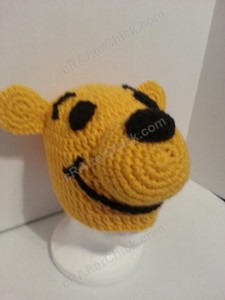 Winnie the Pooh Bear Beanie Hat Crochet Pattern Alternate View