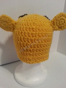 Winnie the Pooh Bear Beanie Hat Crochet Pattern Rear View