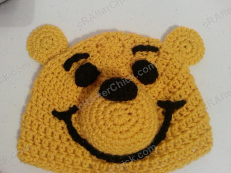 Winnie The Pooh Bear Beanie Hat Crochet Pattern Crafterchick