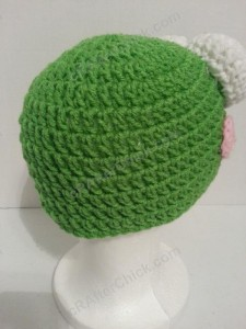 Keroppi the Frog Beanie Hat Crochet Pattern - right back view