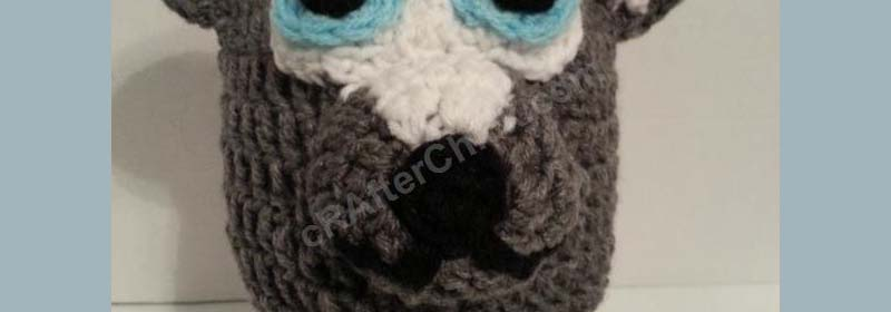 Baby Wolf Cub Beanie Hat Crochet Pattern
