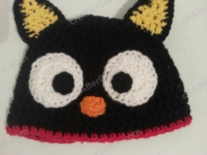 Chococat the Black Cat Character Hat Crochet Pattern